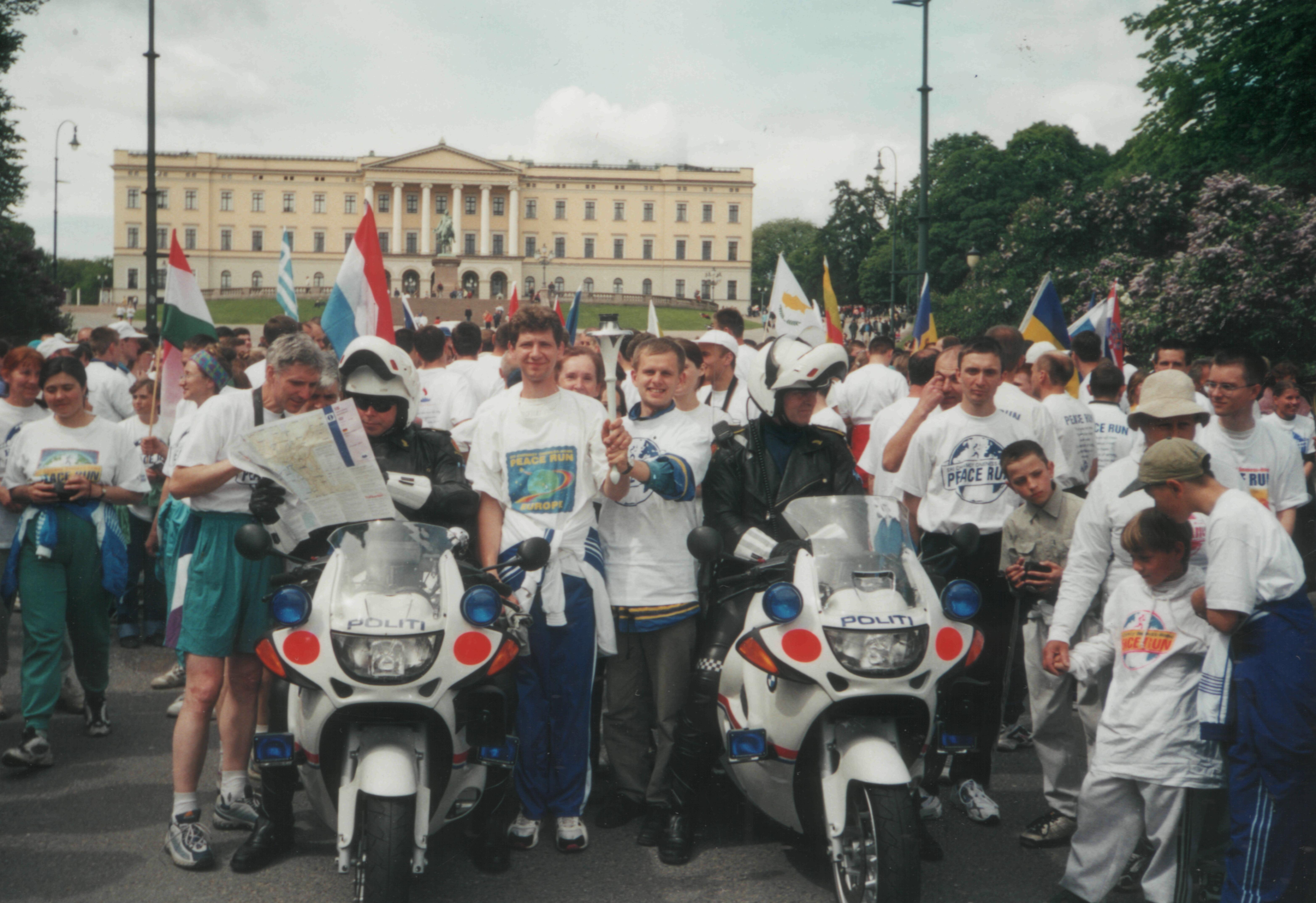 Старт Бега Мира в Осло 2001г.