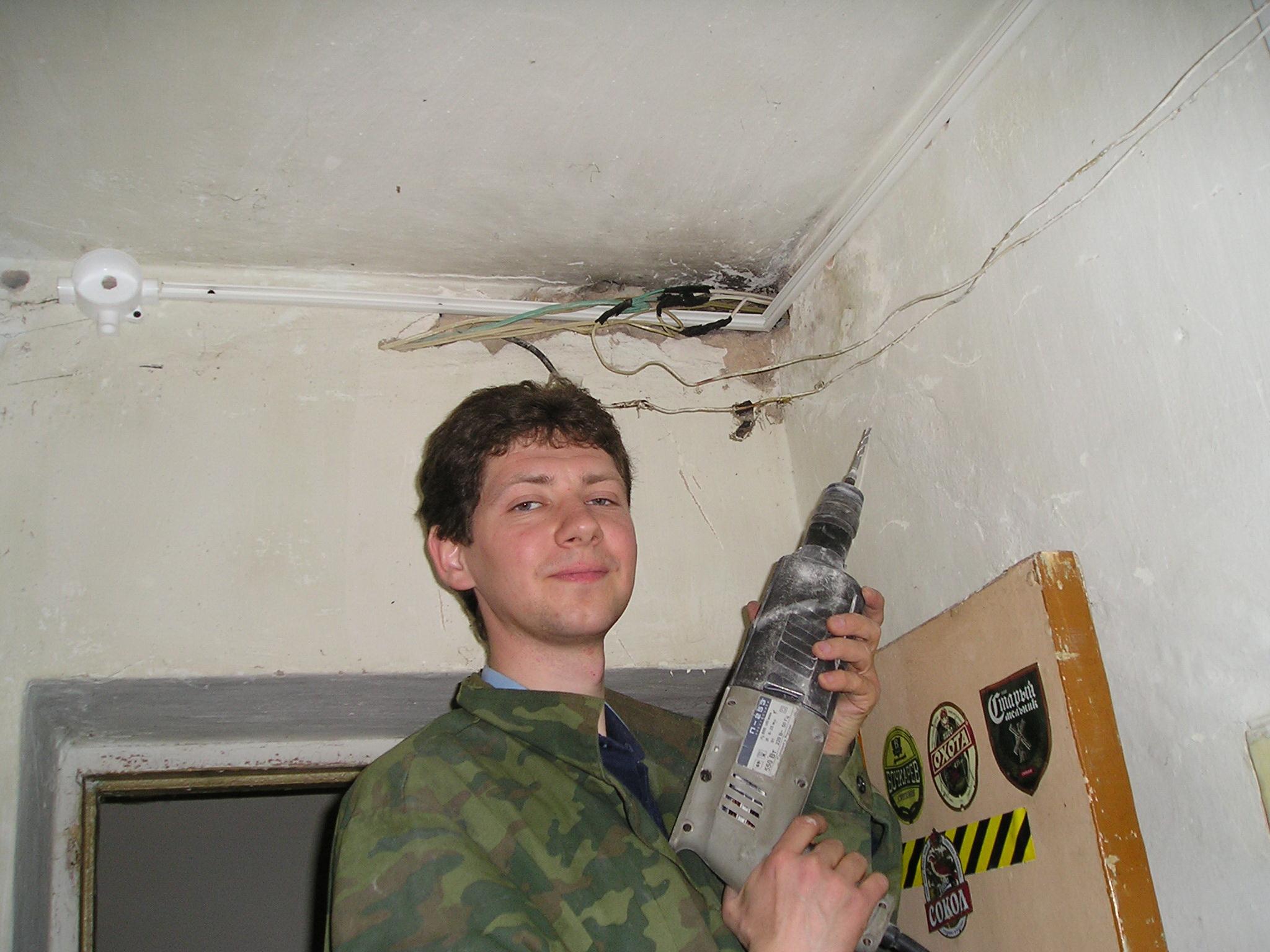 На работе 2004г.