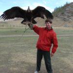 С живым орлом Монголия 2007г.