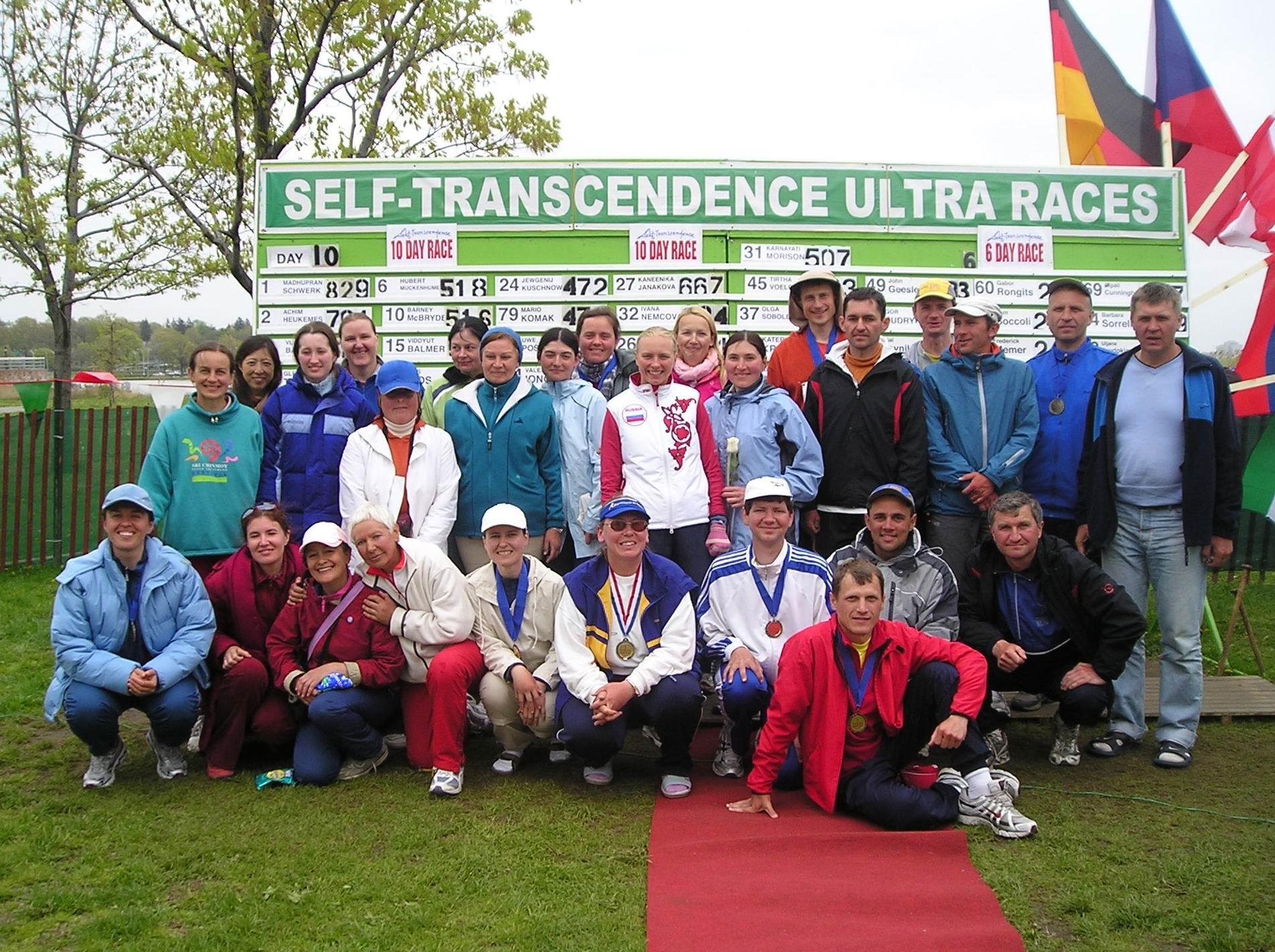 Участники 6 и 10 суточного забега в г.Нью-Йорке 2008г.