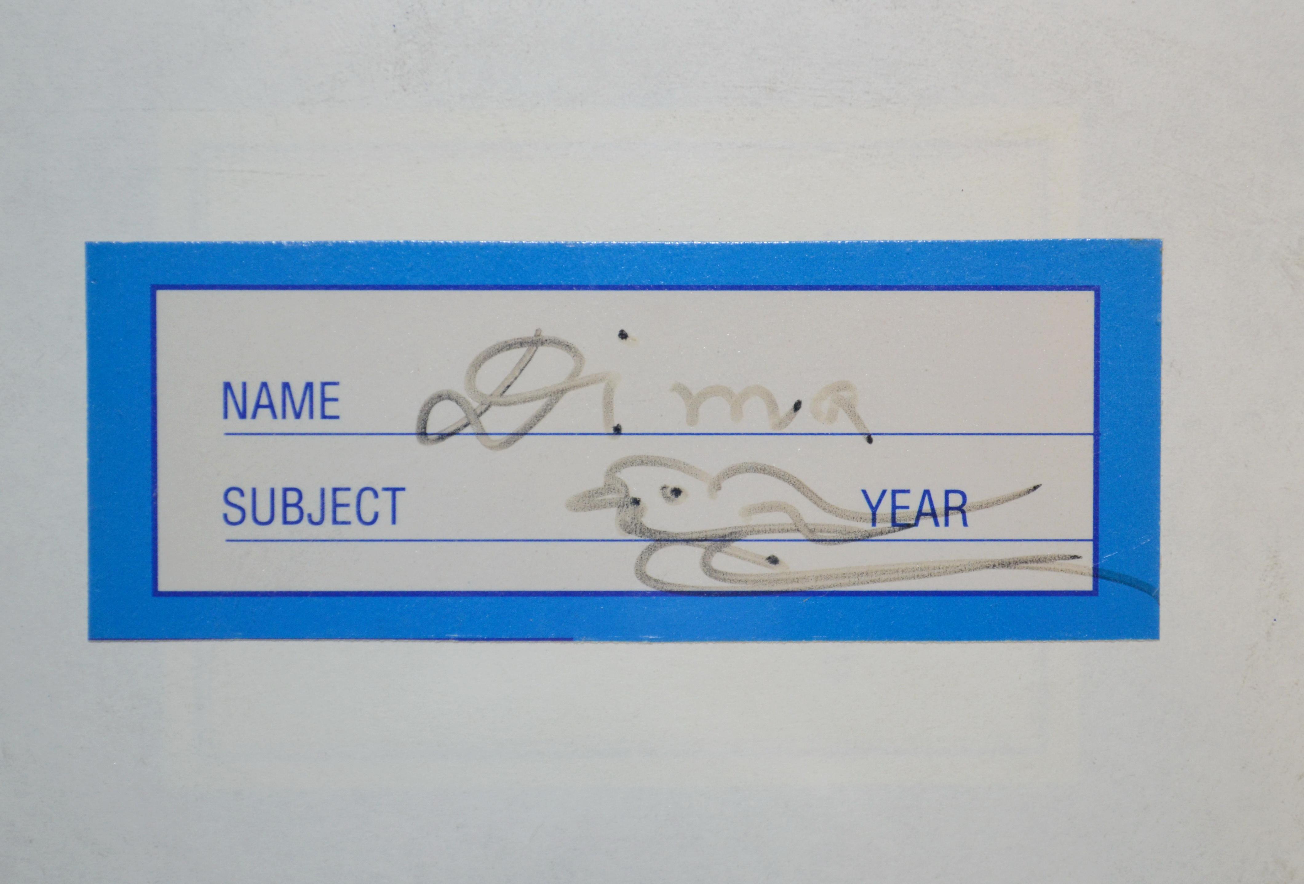 Шри Чинмой подписал для меня тетрадку