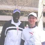 С Карлом Льюисом, 9-кратным олимпийским чемпионом