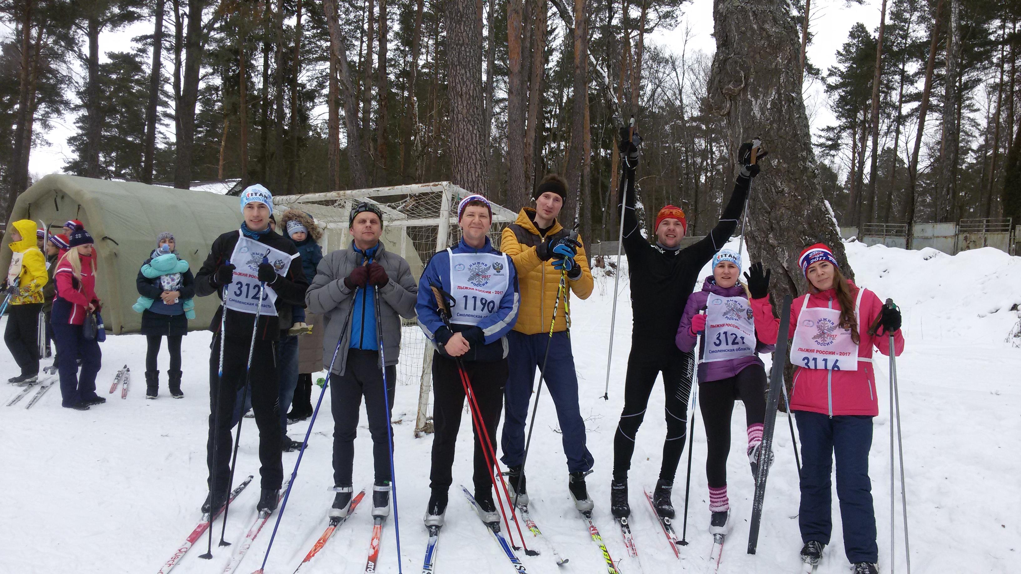 Участие в Лыжне России 2017